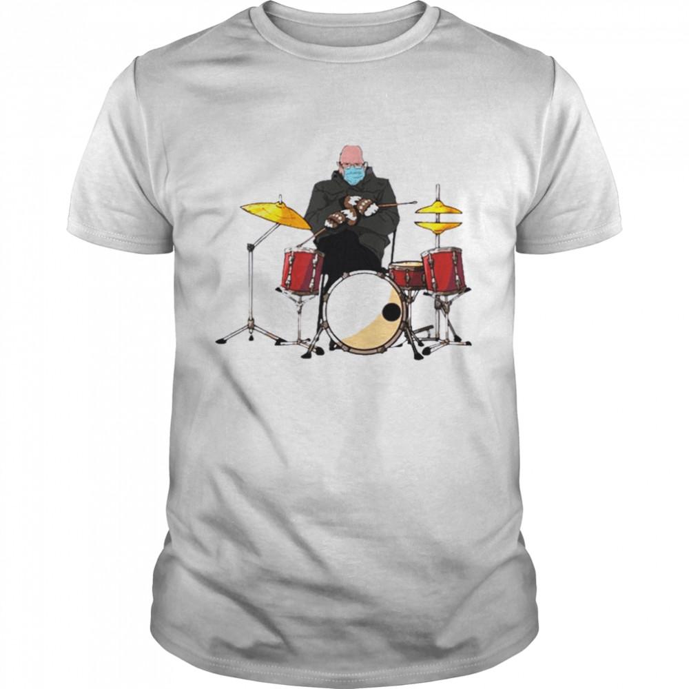 Bernie Sanders Drum Mittens Sitting Inauguration Meme 2021 shirt