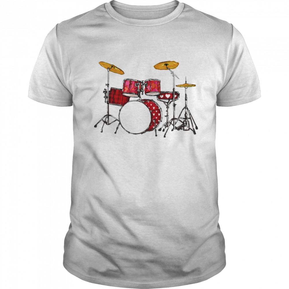 Drum Band Music Valentine's Day shirt
