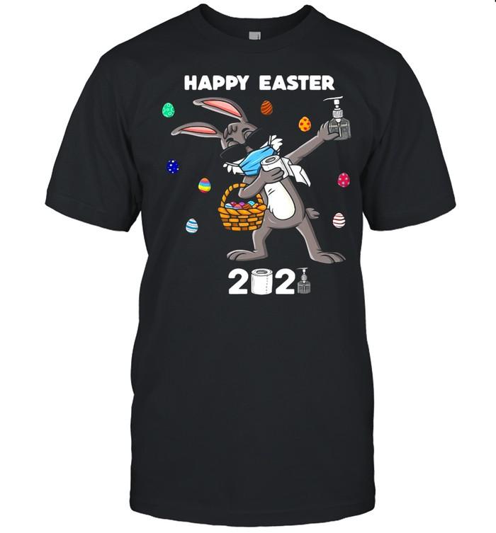 Dabbing Rabbit Easter Day Funny Boys Girls Kids Dab Shirt