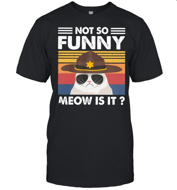 Cat not so funny meow is it vintage shirt