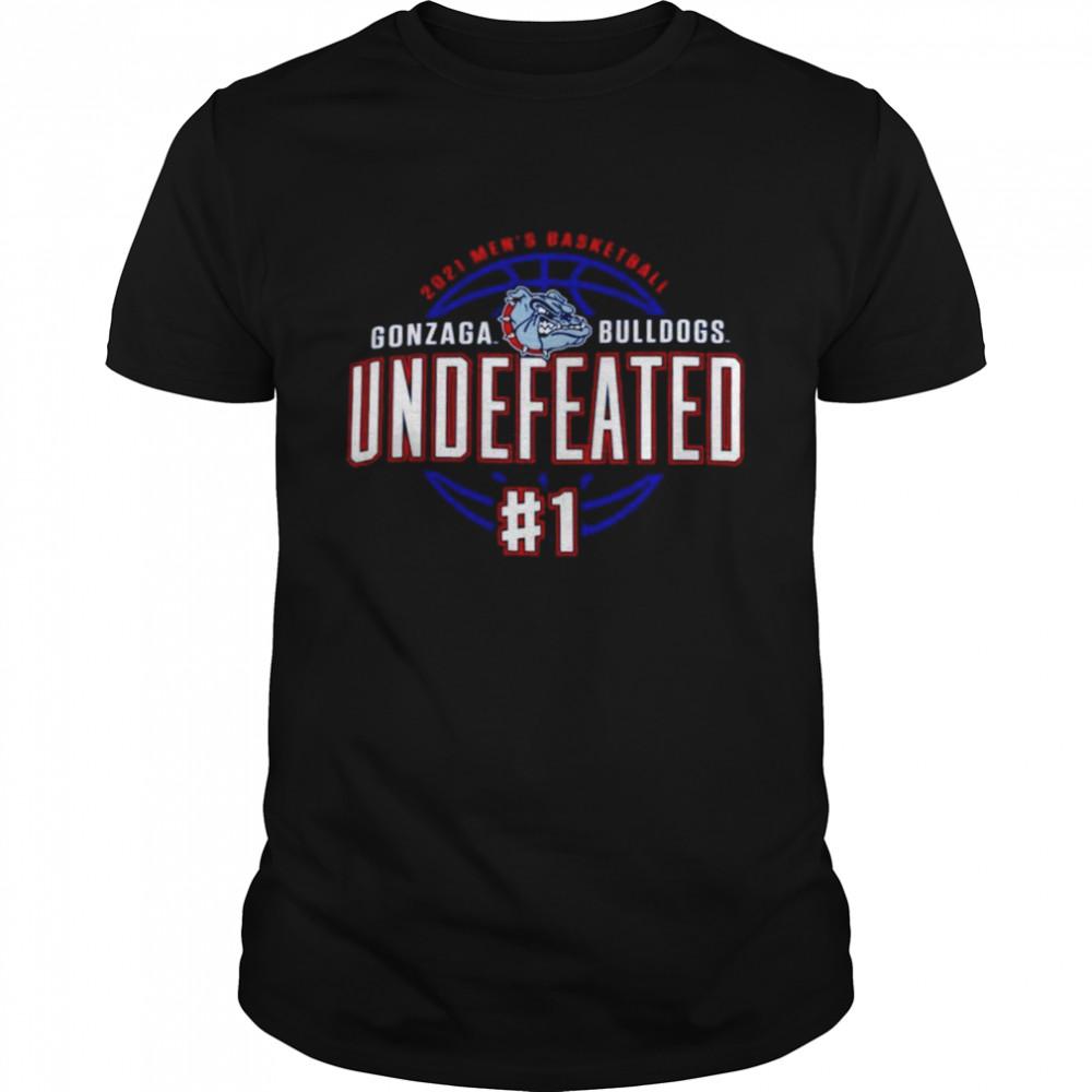 Gonzaga Bulldogs Champion 2021 Undefeated Regular Season shirt