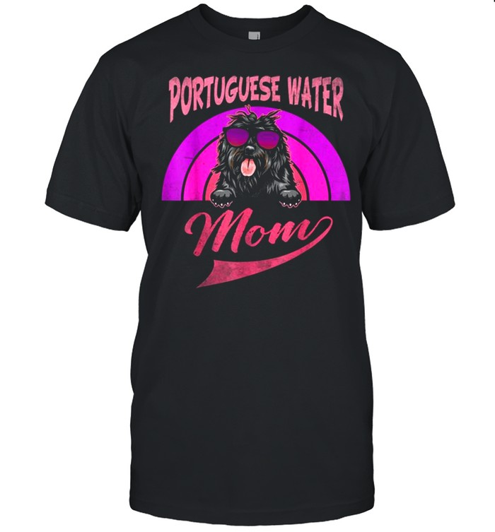Vintage Portuguese Water Mom Mother's Day Shirt
