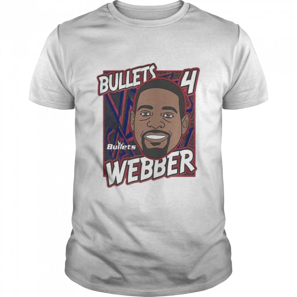 Washington Bullets Chris Webber King of the Court player shirt