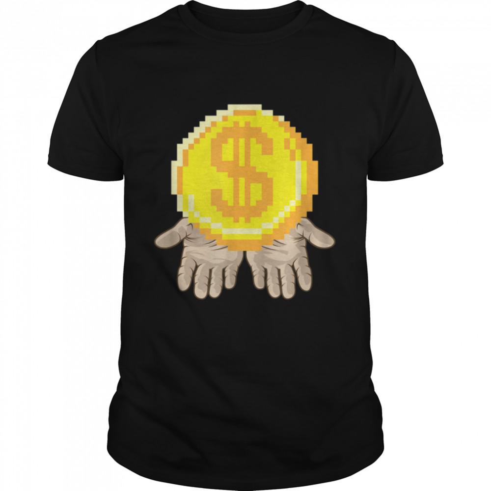 Gold Coin In Open Hands Entrepreneur Dream Shirt
