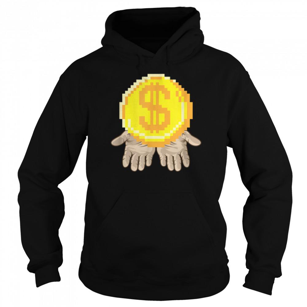 Gold Coin In Open Hands Entrepreneur Dream  Unisex Hoodie