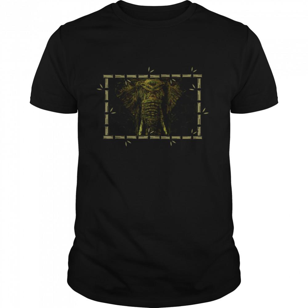 Green Nature Animal Safari Elephant Shirt