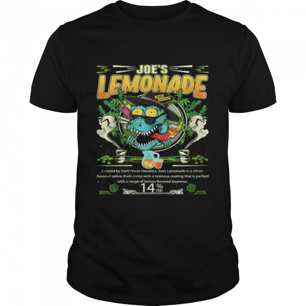 Joe's Lemonade Hybrid Cross Marijuana Strain Cannabis Leaf shirt