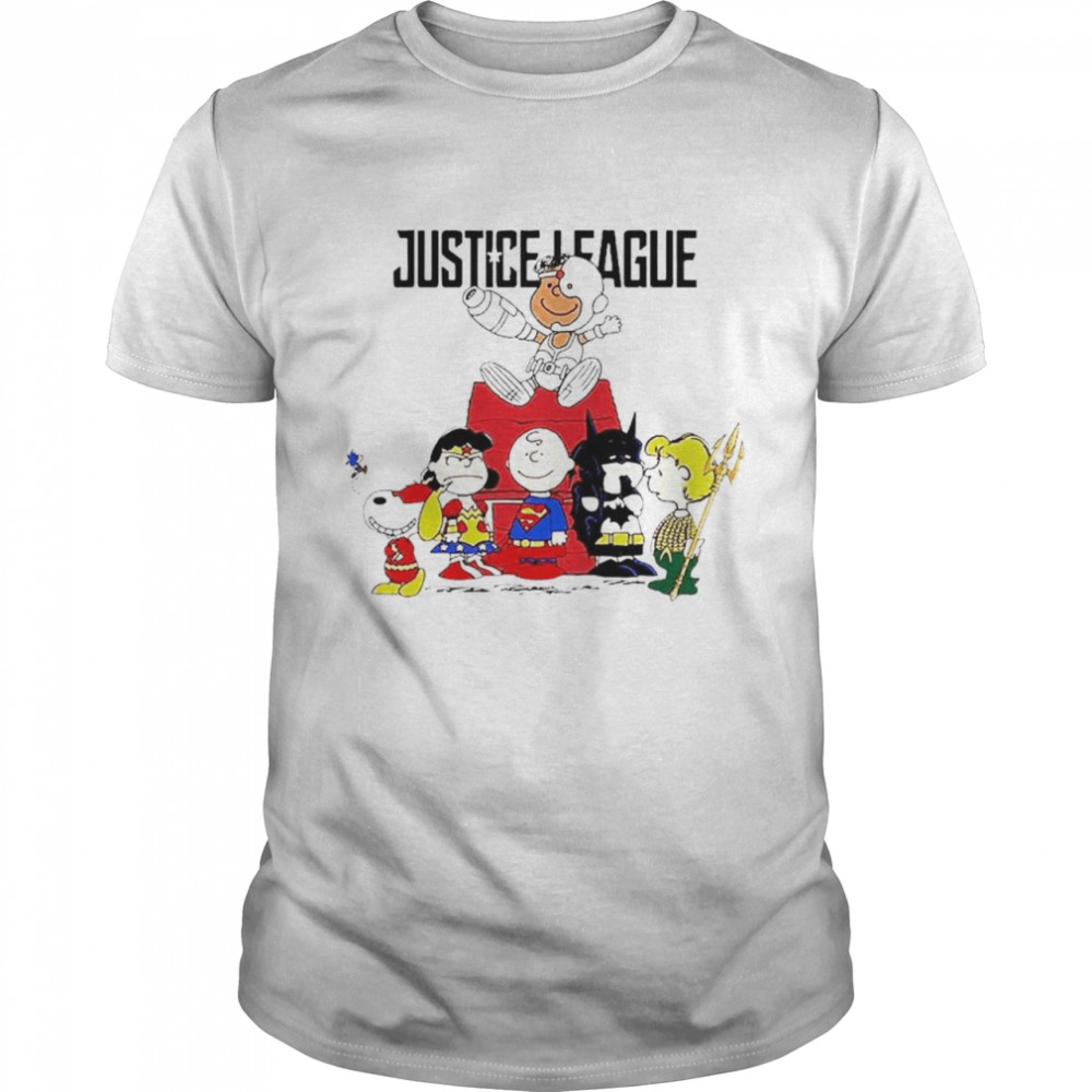 Justice League The Peanuts characters shirt
