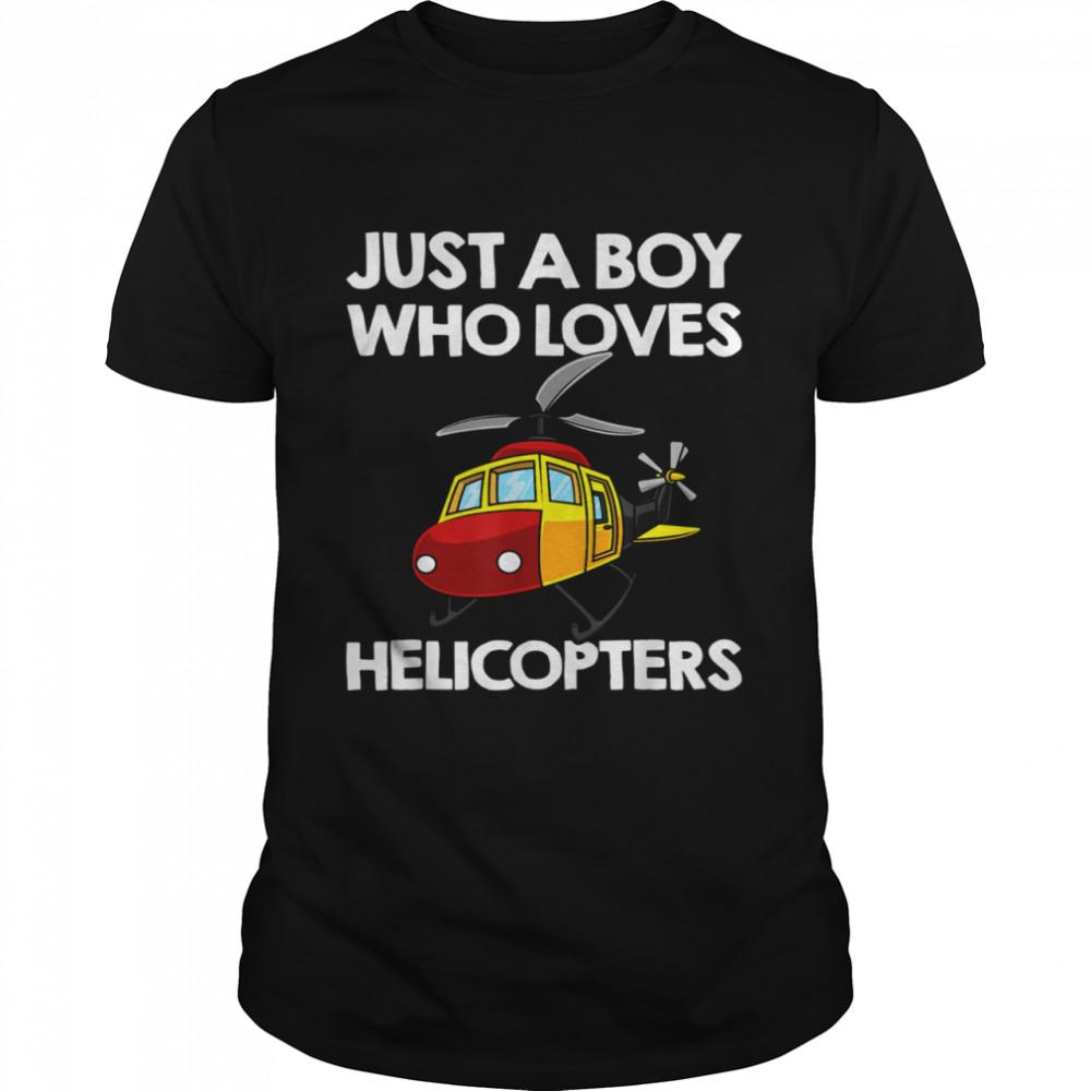 Funny Helicopter Boys Toddler Pilot Aviator shirt