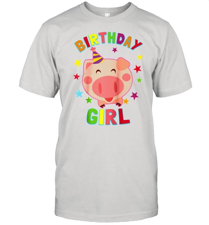 Girl Birthday Pig Bday Party For Girls Shirt