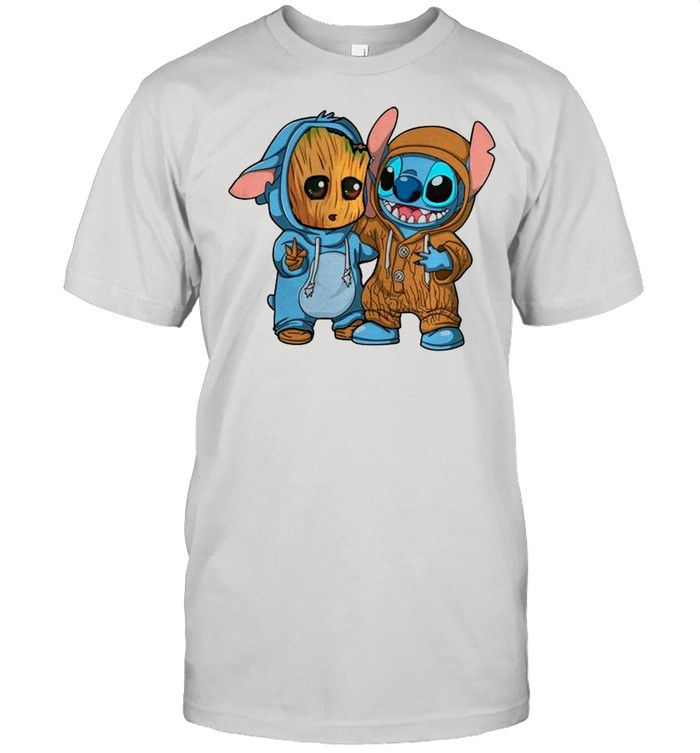 Baby Groot And Stitch Is Best Friend shirt