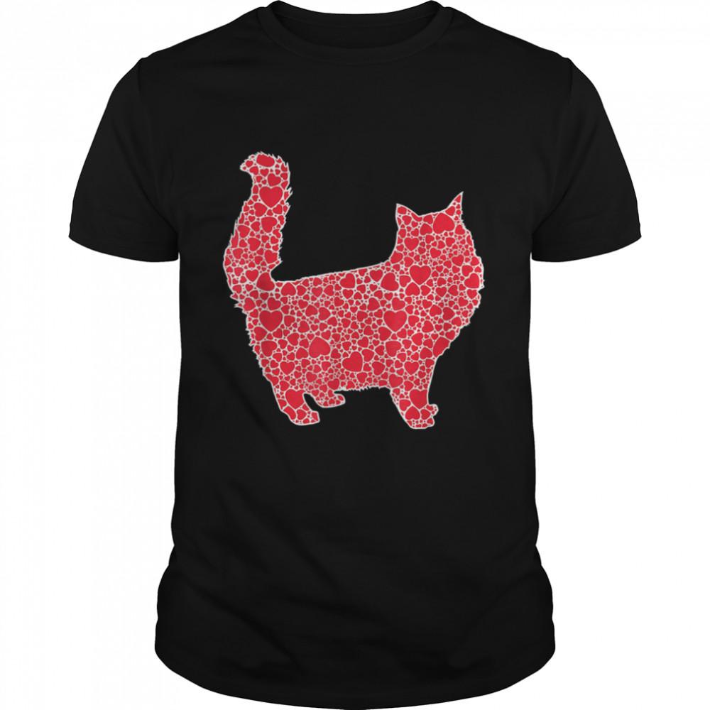 Cat Hearts Valentine's Day Feline Pet Kitty Girl shirt