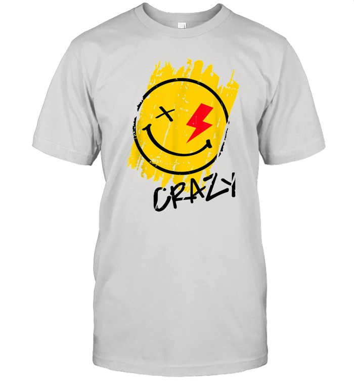 Crazy Happy Smiley Face Noveltys & Cool Designs shirt