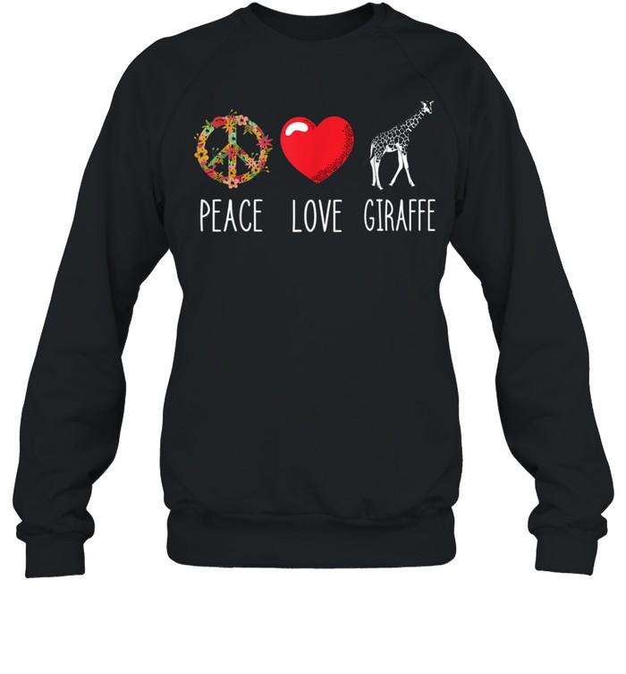 Giraffe Peace Camelopard Terrestrial Animal Ruminant  Unisex Sweatshirt