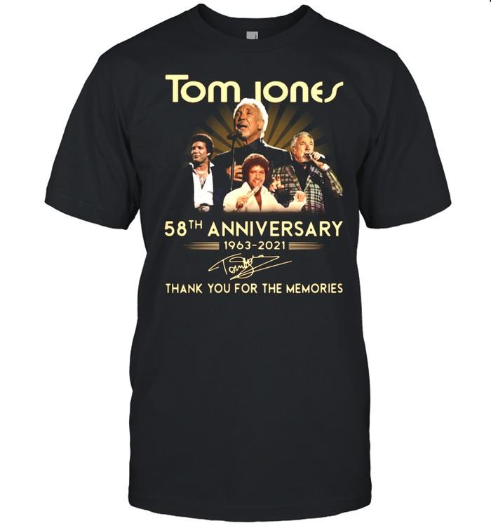 Tom Jones 58th anniversary 1963 2021 thank you for the memories signature shirt