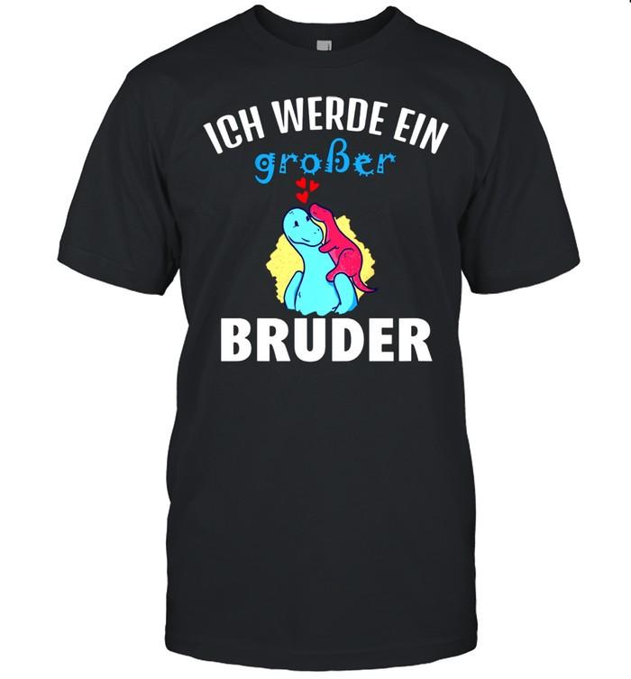 Kids Nachwuchs Ich werde ein großer Bruder Grosser Bruder Dino shirt