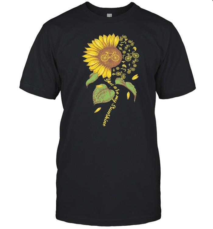 You are my sunshine sunflower bicycle shirt