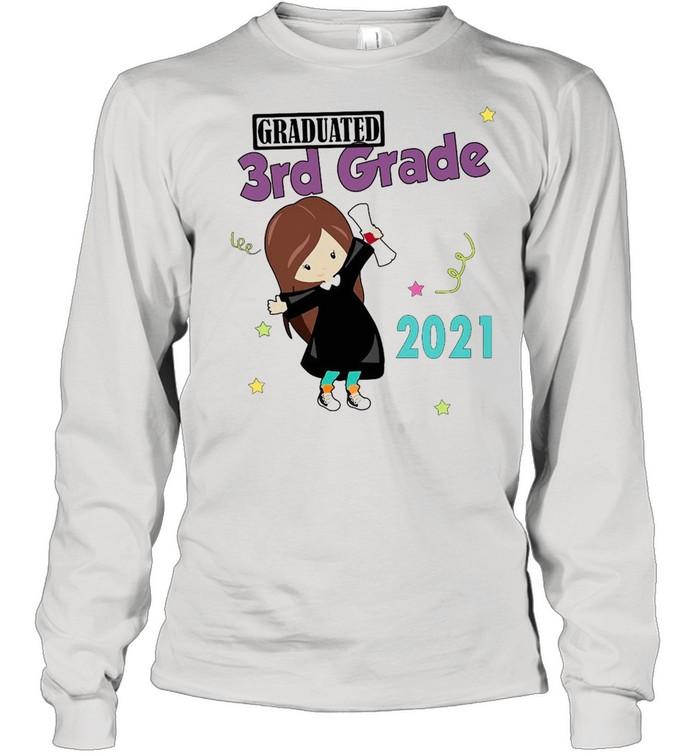 Girly Graduated 3th Grade 2021 T-shirt Long Sleeved T-shirt