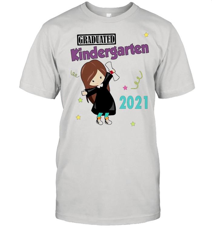 Girly Graduated Kindergarten 2021 T-shirt