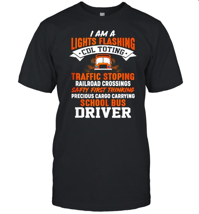 Lights Flashing School Bus Driver shirt