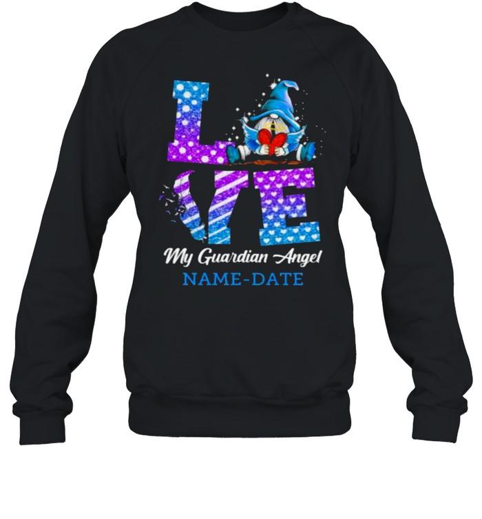 Love My Guardian Angel Name Date Gnomw  Unisex Sweatshirt
