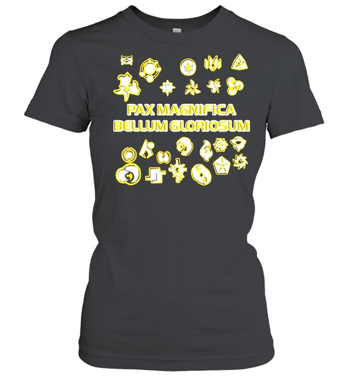 Duotone faction symbols pax magnifica bellum gloriosum twilight imperium shirt Classic Women's T-shirt