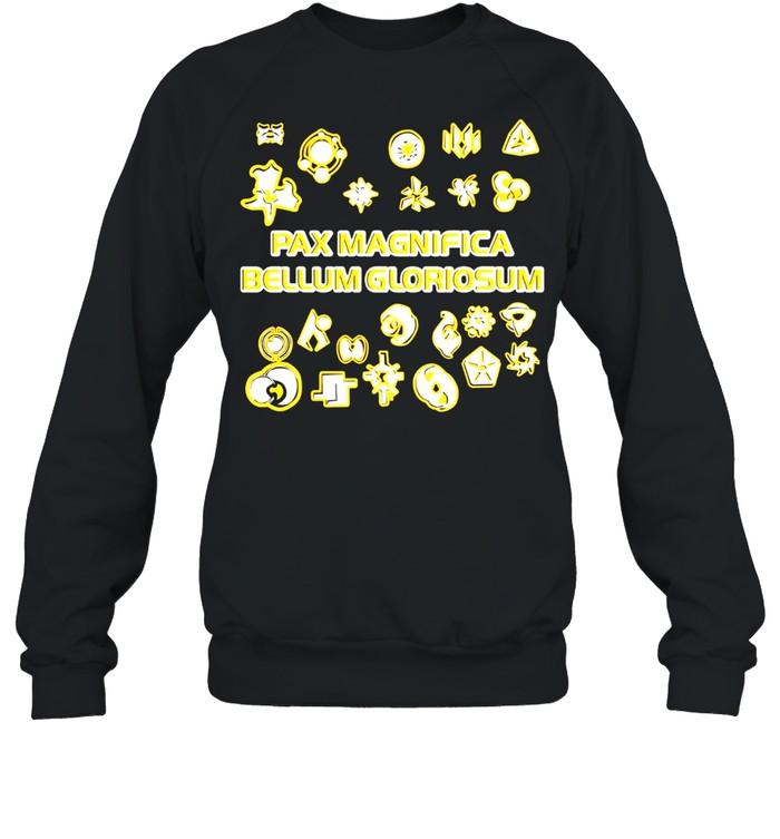 Duotone faction symbols pax magnifica bellum gloriosum twilight imperium shirt Unisex Sweatshirt