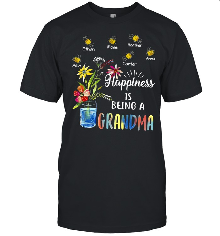 Happiness Is Being Grandma Flower T-shirt
