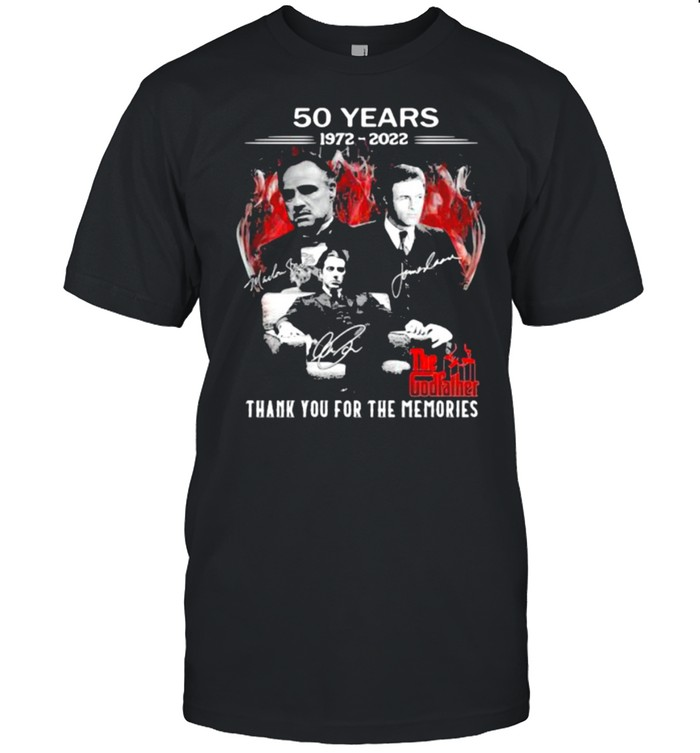 50 years 1972-2022 The Godfather thank you for the memories signatures shirt