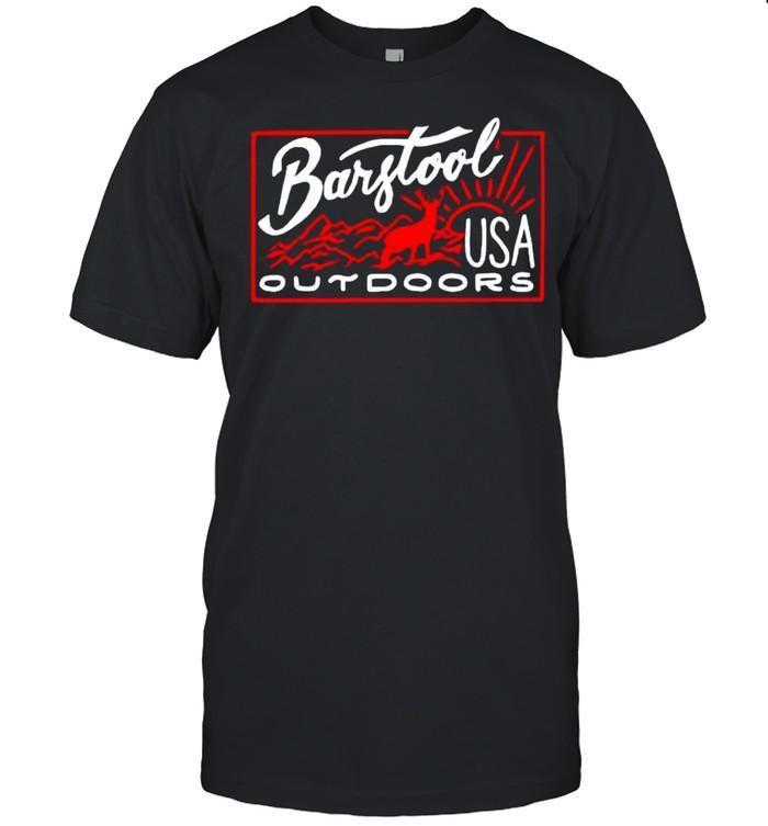 Deer Barstool outdoors USA shirt