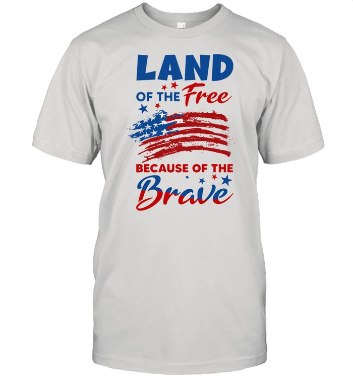 Land Of The Free Because Of The Brave Vintage American Flag shirt