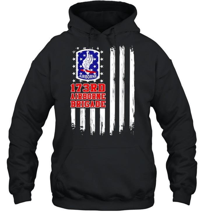 173rd Airborne Brigade American Flag T- Unisex Hoodie