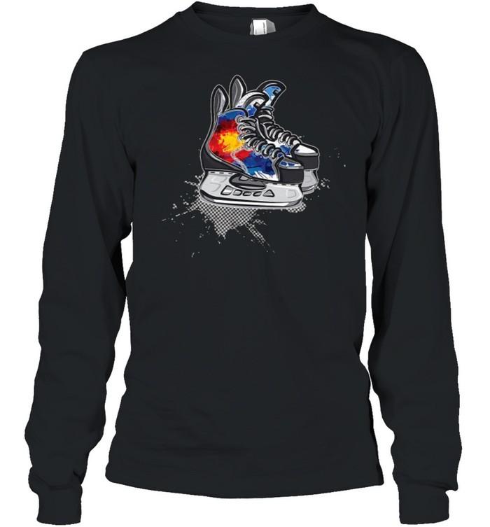 Colorado Hockey Skates T- Long Sleeved T-shirt