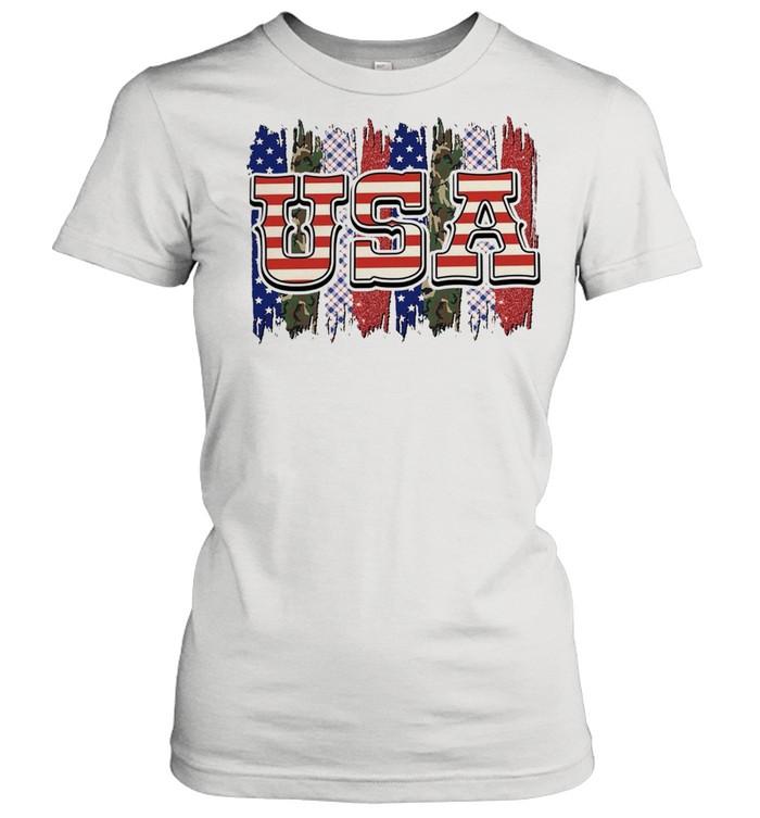 Camo american flag shirt Classic Women's T-shirt
