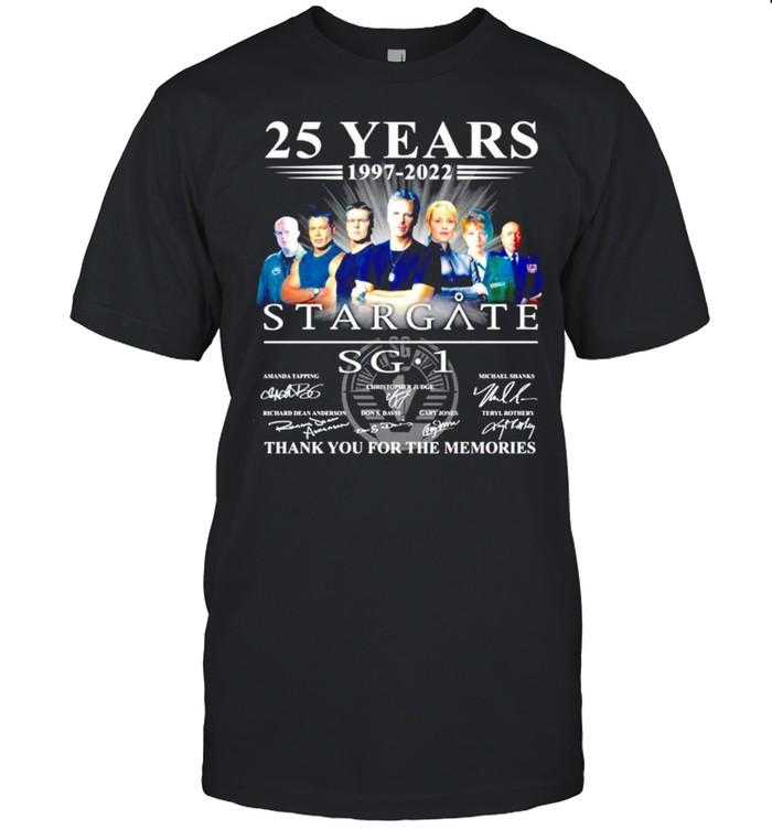 25 years 1997-2022 Stargate SG1 signatures t-shirt