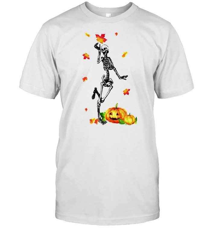 Dancing skeleton fall Halloween shirt
