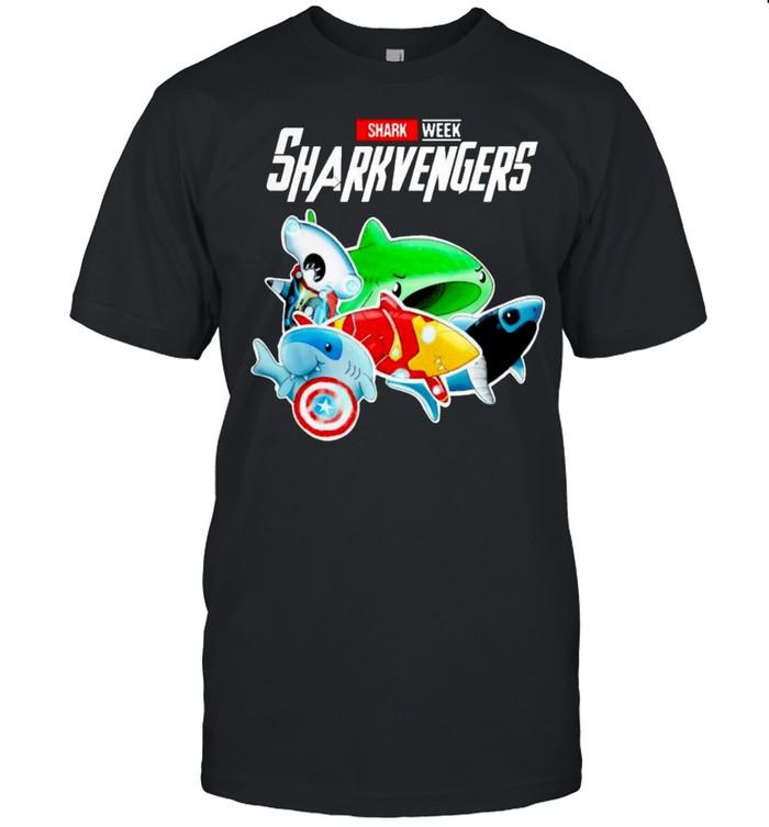 Marvel Avenger shark week sharkvengers shirt