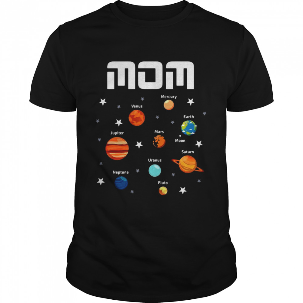 Outer Space Theme Mom Solar Planets T-shirt