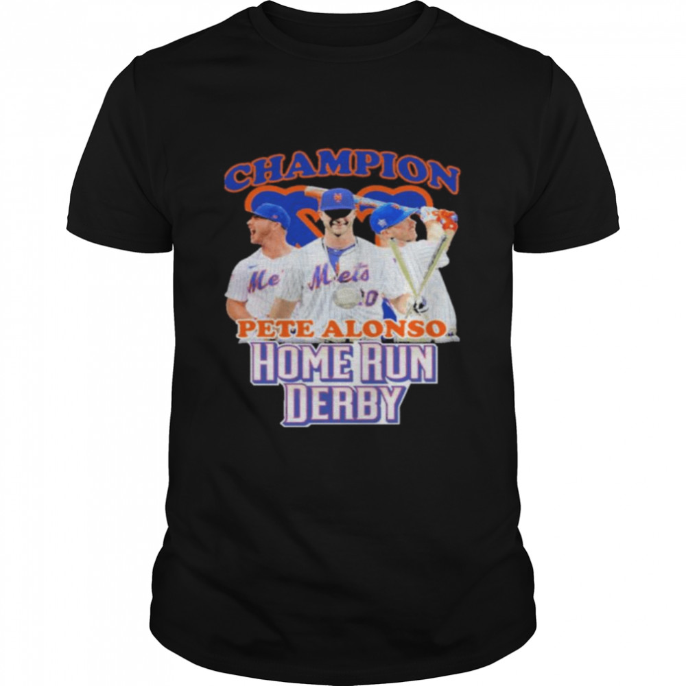 New York Mets Pete Alonso Home Run Derby champion shirt
