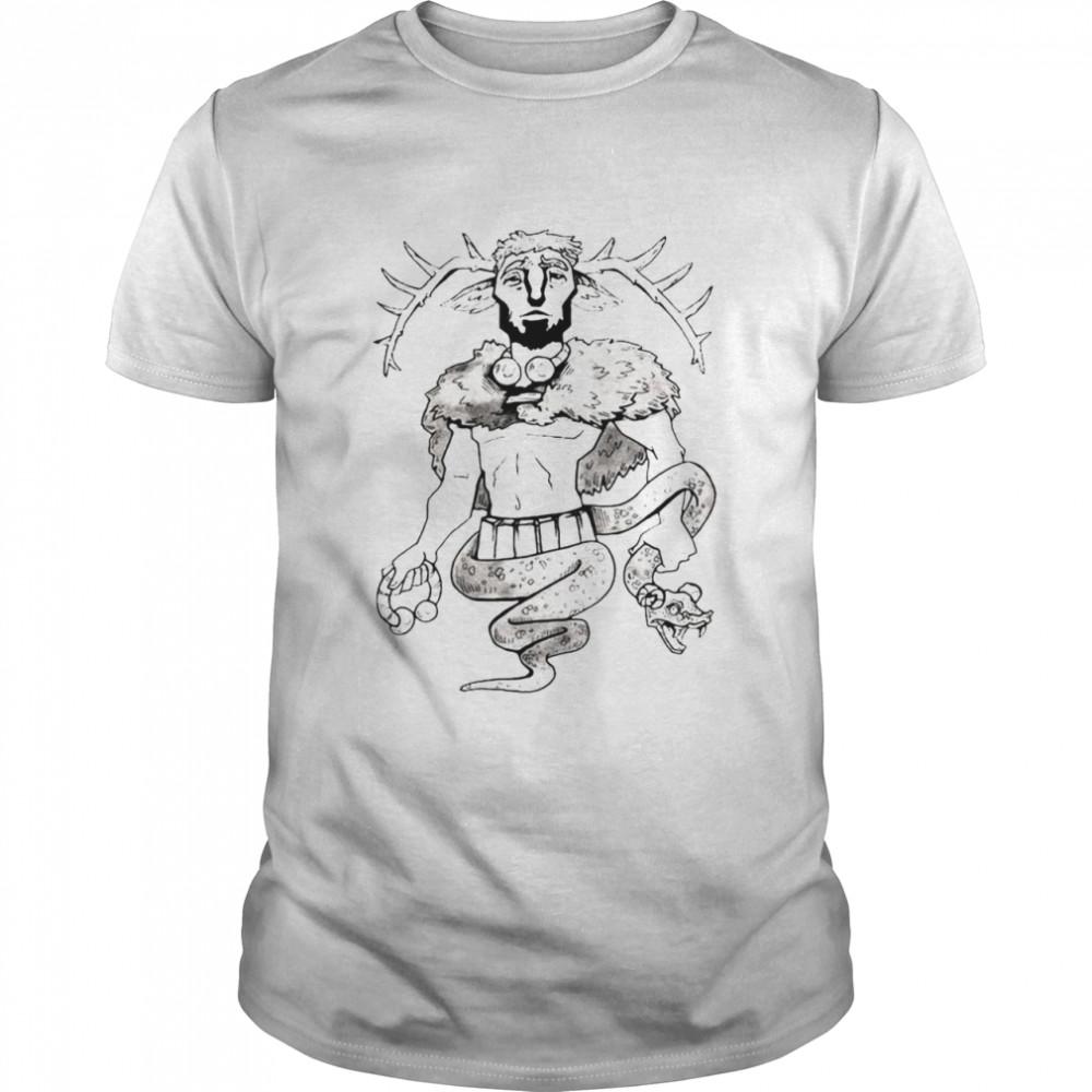 Cernunnos Print Art T-shirt