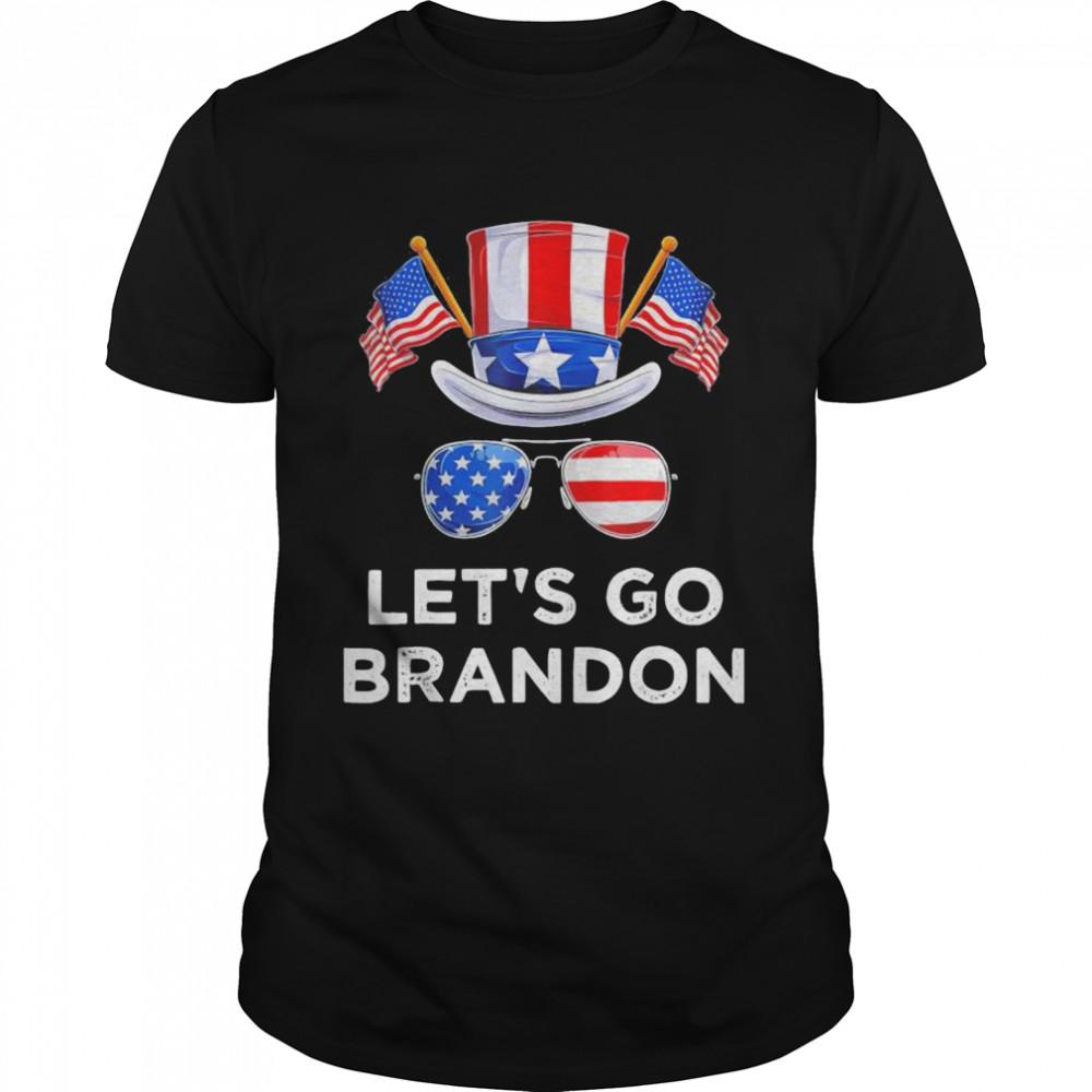 Lets Go Brandon Conservative US Glasses Flag shirt